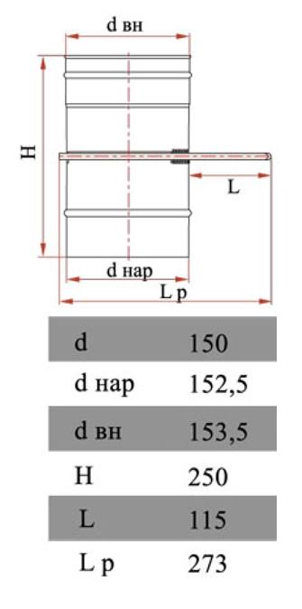 Размеры задвижки Дымок