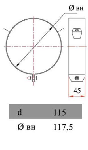 Размеры хомута Дымок